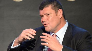 James Packer, Australian billionaire and Melco Crown co-chairman speaks during a press conference