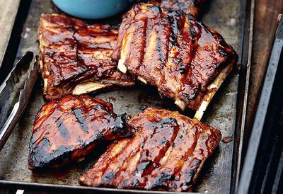 "Recipe:&nbsp;<a href=""http://kitchen.nine.com.au/2016/05/05/11/06/sticky-barbecued-ribs"" target=""_top"">Sticky barbecued ribs</a>"