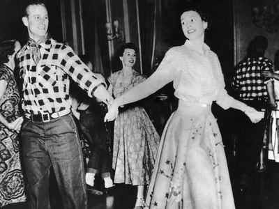 Prince Philip and Queen Elizabeth share a dance