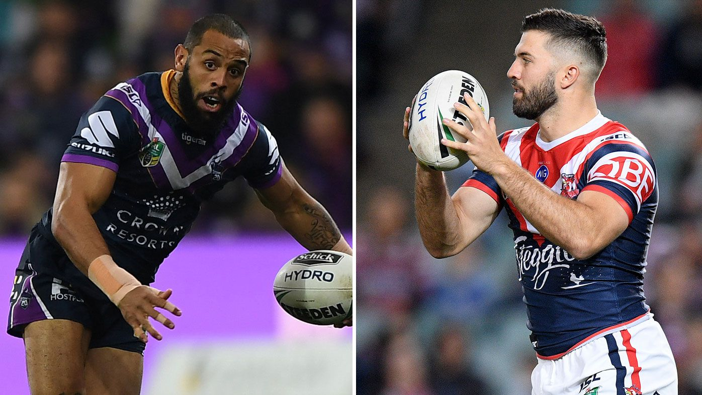 Josh Addo-Carr (left) and James Tedesco