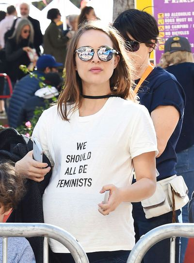 Actress Natalie Portman at a solidarity march in LA in January, 2017