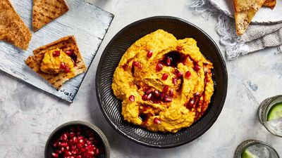 "<a href=""http://kitchen.nine.com.au/2017/01/04/14/10/pumpkin-hummus-with-pomegranate-molasses"" target=""_top"">Pumpkin hummus with pomegranate molasses</a><br> <br> <a href=""http://kitchen.nine.com.au/2016/06/06/20/49/sensational-side-dishes"" target=""_top"">More side dish inspiration</a>"