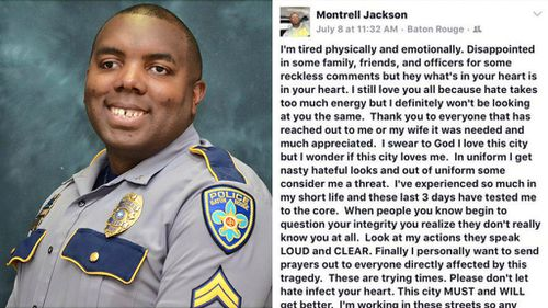 Baton Rouge police officer posted emotional plea on Facebook days before his death
