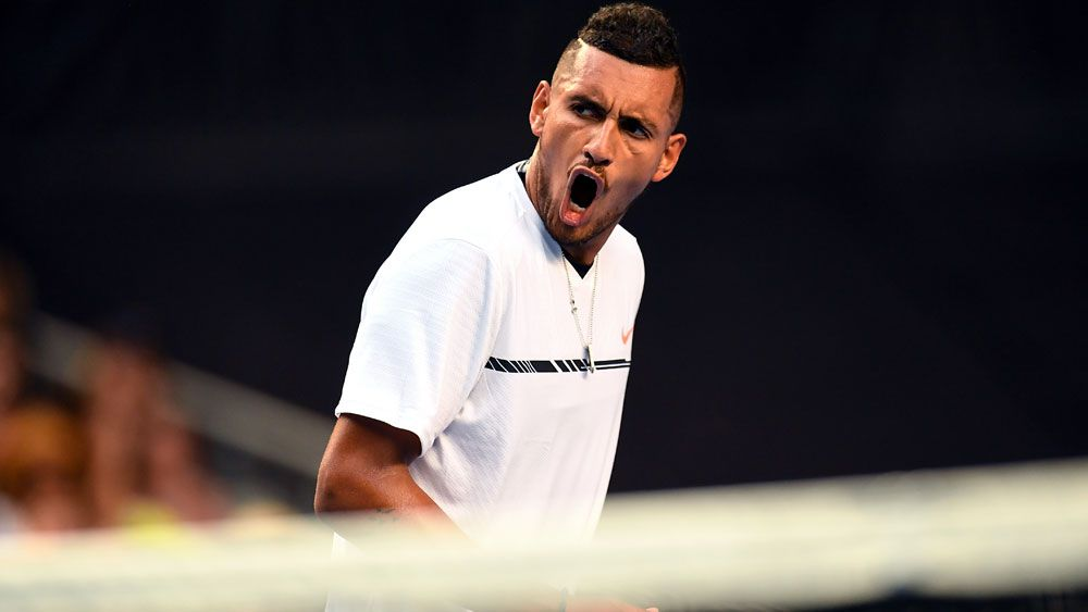 Kyrgios in a hurry and into second round