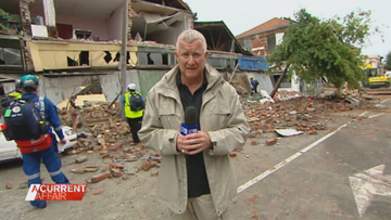 Reporter's reunion with Christchurch earthquake survivor, a decade on