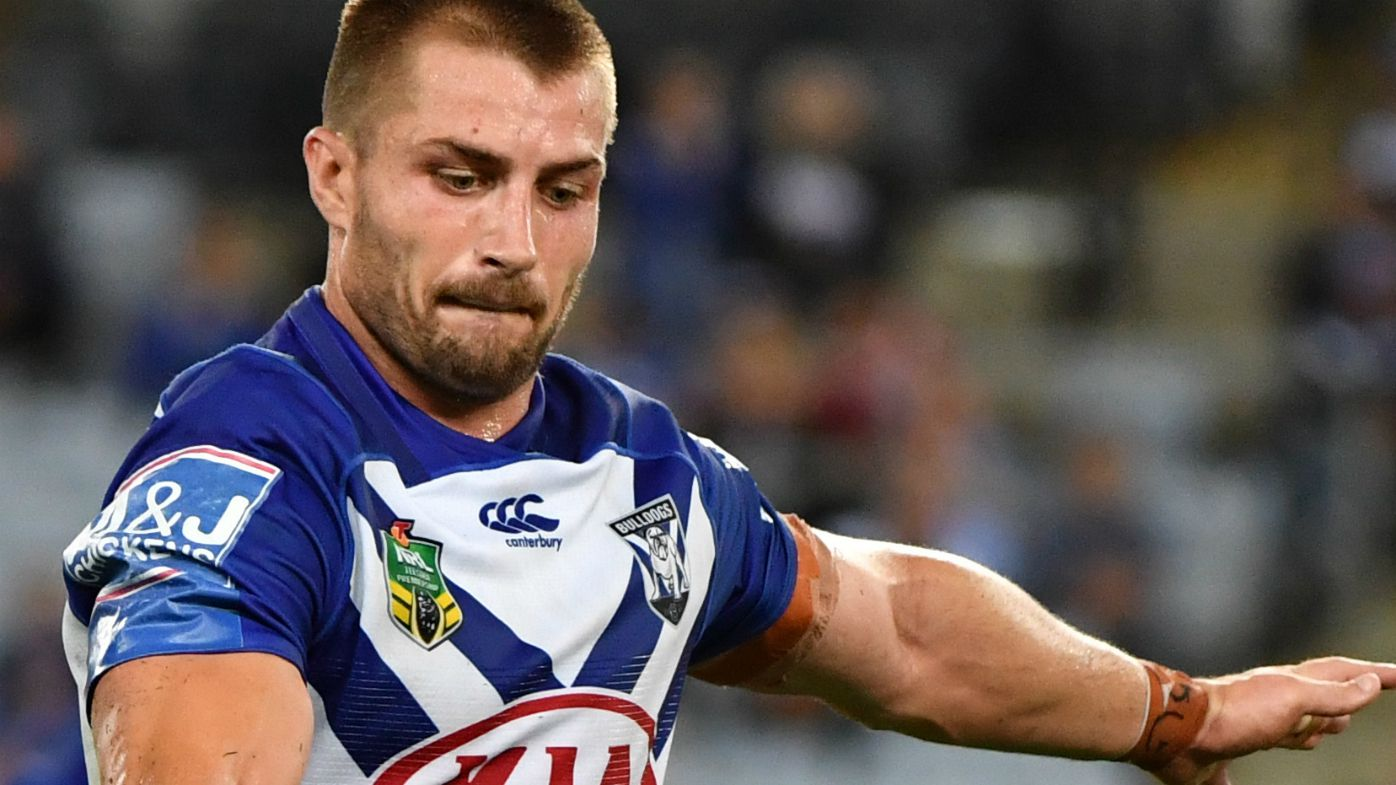 Bulldogs Kieran Foran kicks