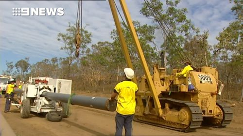 The pipeline could soon be built in the NT.