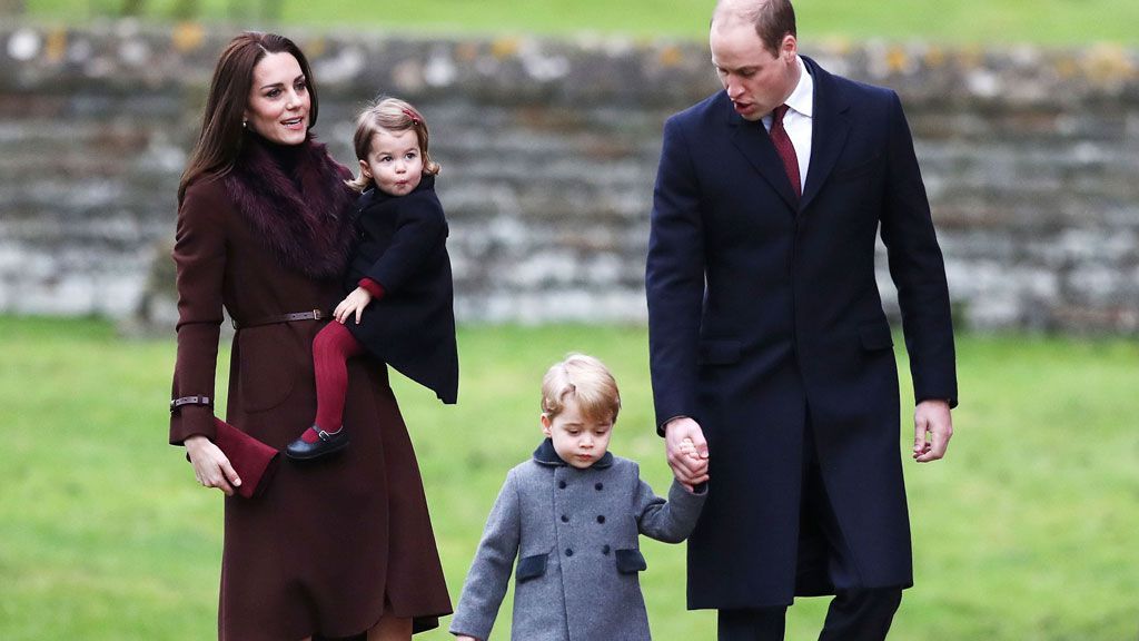 Princess Charlotte Prince George Prince William Kate Middleton Christmas service