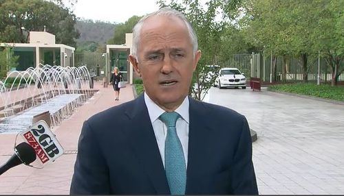 Malcolm Turnbull spoke about his deputy's affair this morning in Canberra.
