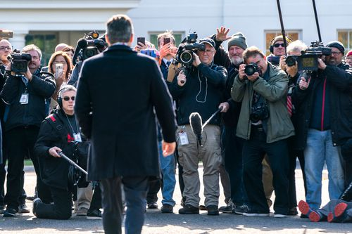 Acosta was back at the White House in the afternoon.