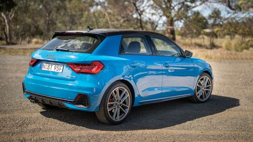 Audi A1 Sportback 40 TFSI S line as tested in Turbo blue.