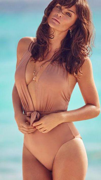 Helena in a Reger by Janet Reger swimsuit for Debenhams.