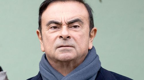 A file photograph of Renault and Nissan Motor Co.'s chairman Carlos Ghosn.