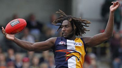 West Coast Eagles player Nic Naitanui. (AAP)