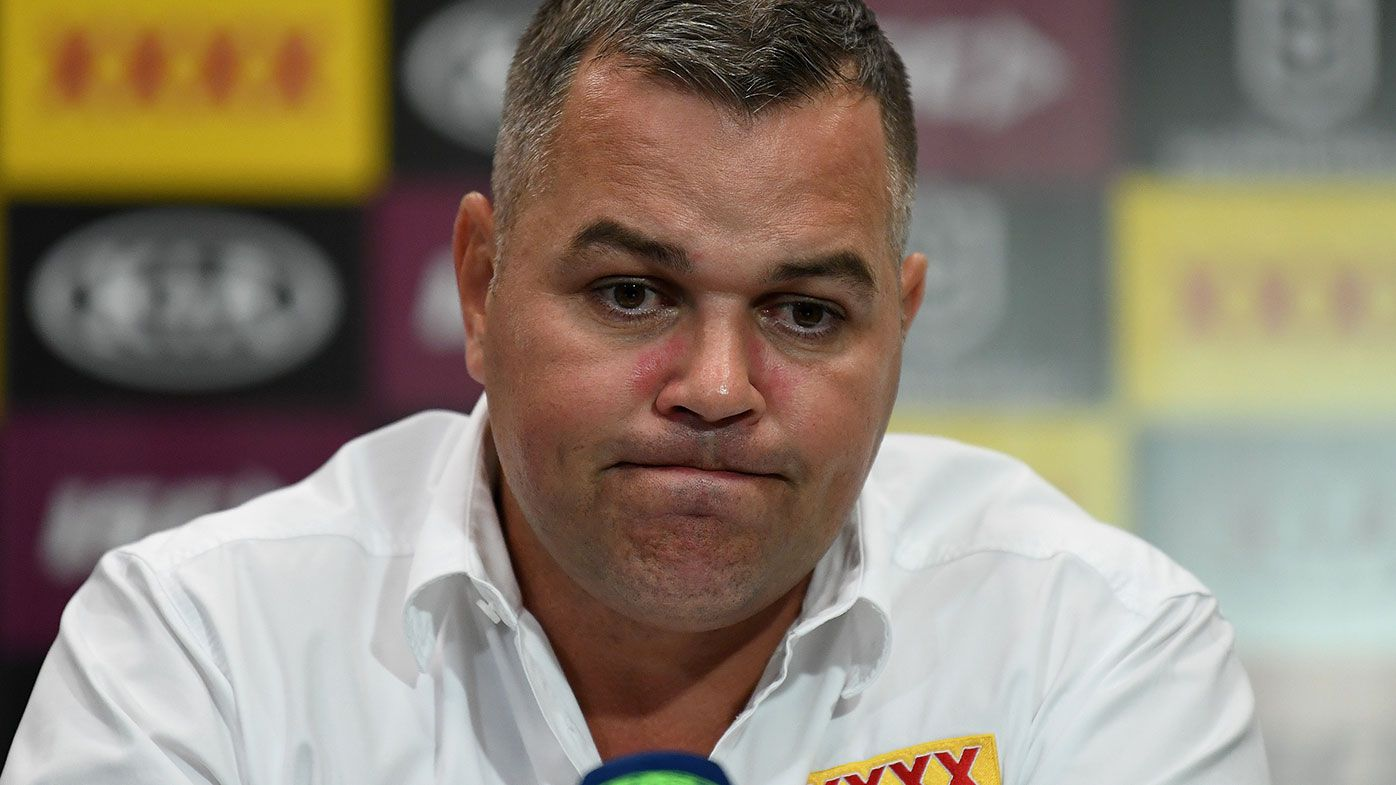 Brisbane coach Anthony Seibold.