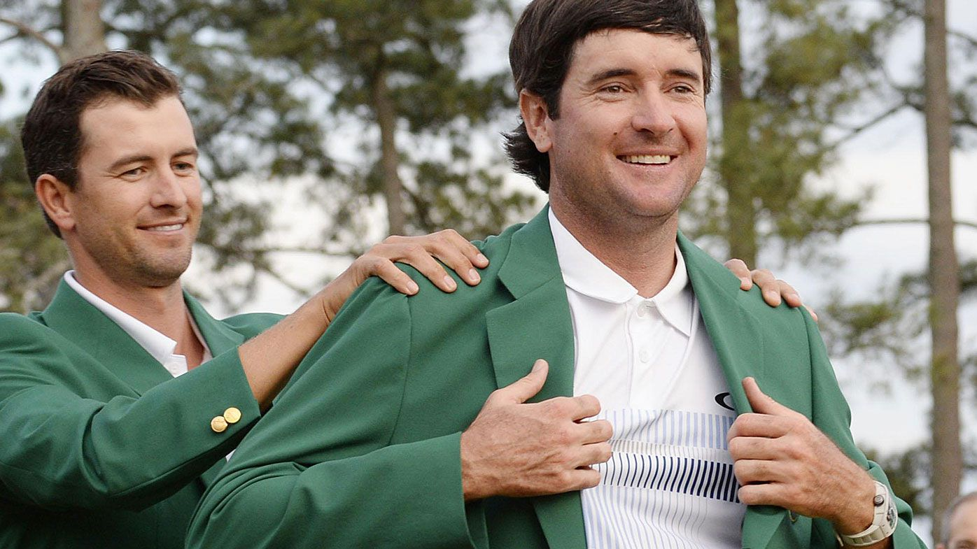 Bubba Watson winning the Masters in 2014