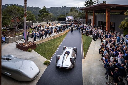 The car offers a glimpse at the electric supercars of the future.