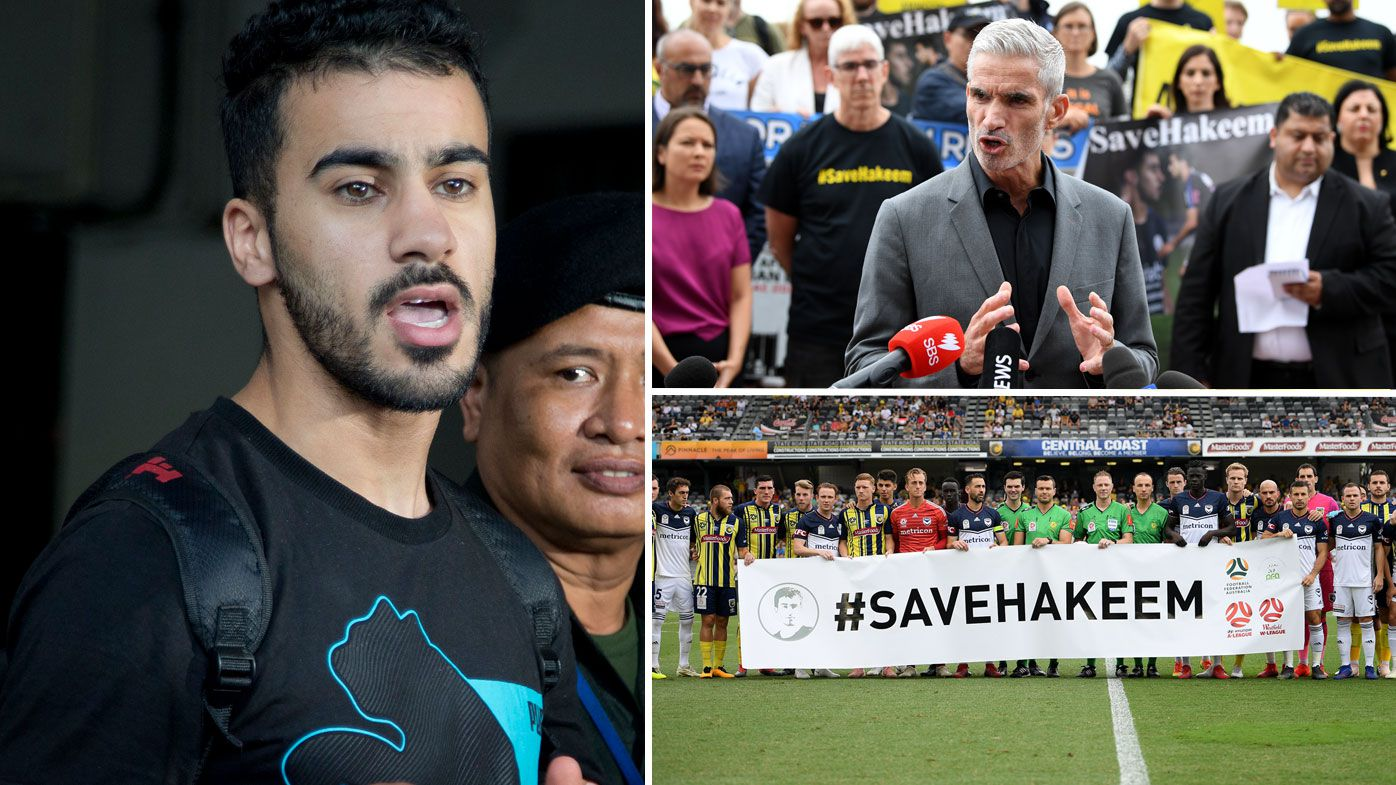 Refugee footballer Hakeem al-Araibi arrives at court in Thailand