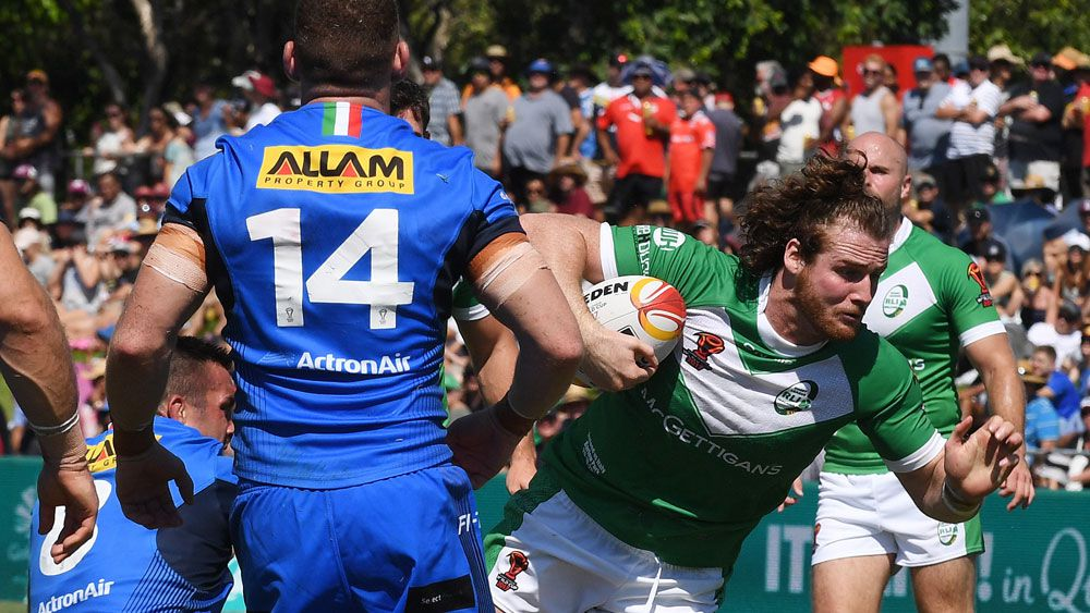 Ireland win Rugby League World Cup match as Italy endures Murphy's Law