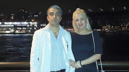 Amir Darbanou is charged with murder of his wife Nasrin Abek. (Facebook)