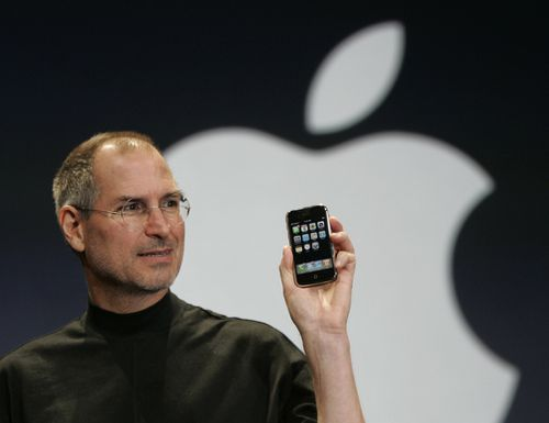 The peak reached today seemed unimaginable in 1997 when Apple teetered on the edge of bankruptcy, with its stock trading for less than US$1. Picture: AAP