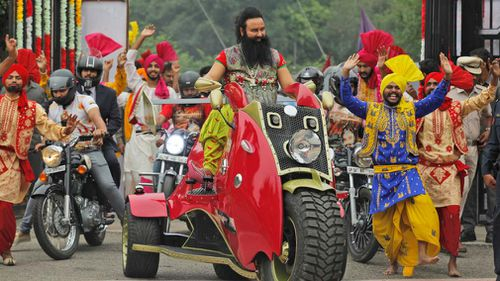 Gurmeet Ram Rahim Singh, 51, was handed down the sentence via video link during a court session in Panchkula, Haryana state last week.