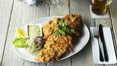 Munich Brauhaus' chicken schnitzel