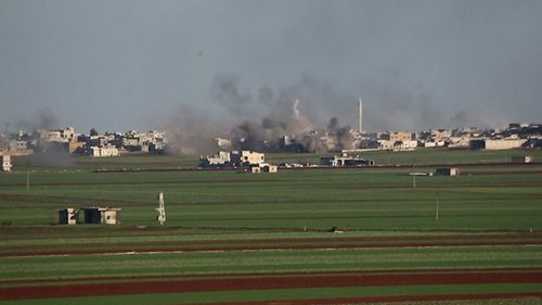 A Syrian airstrike on a Turkish base near Idlib has killed 29 soldiers.