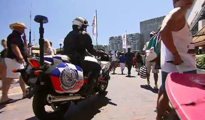 Capital cities will have heightened security for New Year's Eve, with police officers out in force. (9NEWS)