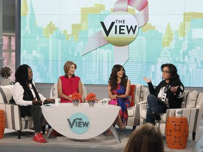 Whoopi Goldberg, Nicolle Wallace, Rosie Perez and Rosie O'Donnell