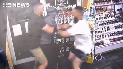 Moment 'armed robbery' is foiled by heroic customers