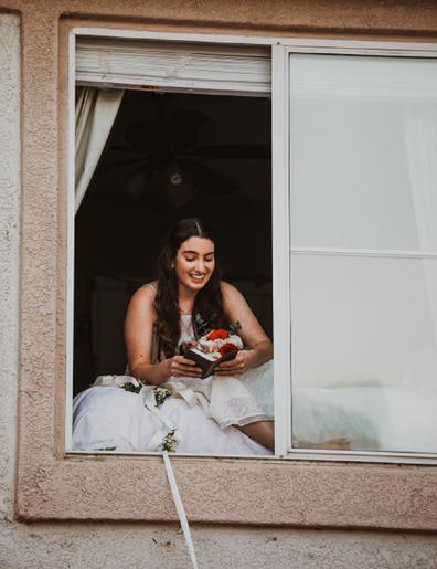 Bride diagnosed coronavirus wedding