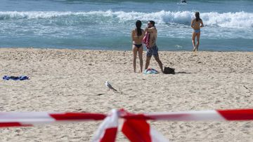 Beachgoers on the sand at Maroubra Beach last week.