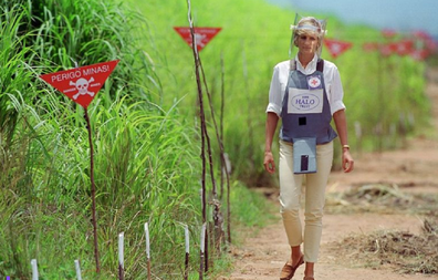 Princess Diana walked through a minefield in Huambo in 1997 as part of the HALO project.