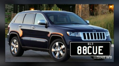 This Jeep Cherokee was allegedly stolen from a Queensland family's home last night by knife-wielding thieves (Supplied).