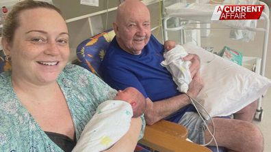 Couple with 39-year age gap welcome twins