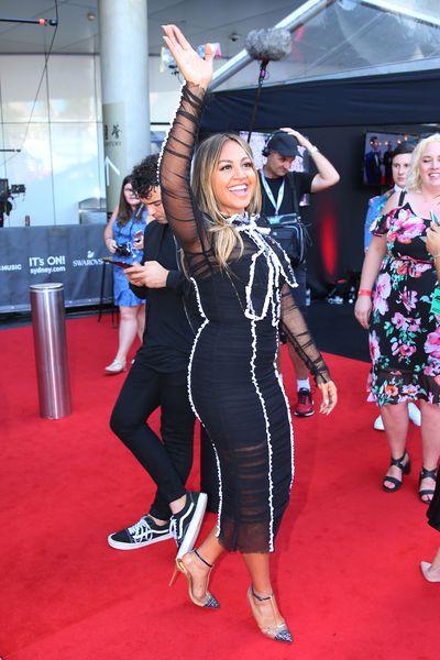 Jessica Mauboyat the 2017 ARIA Awards