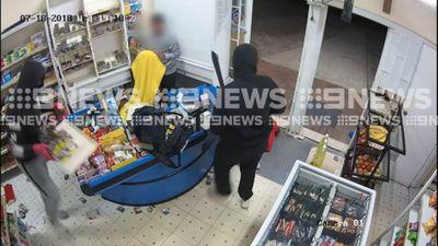 Machete-wielding robbers storm store