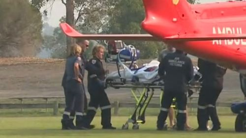Young child hit by car after getting off bus in Victorian town
