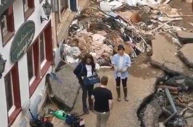 Susanna Ohlen German TV reporter flood zone