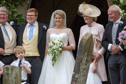 Bride Celia McCorquodale is the daughter of Princess Diana's sister. Picture: Splash