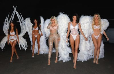Kardashian-Jenner sisters dazzle as Victoria's Secret Angels for Halloween