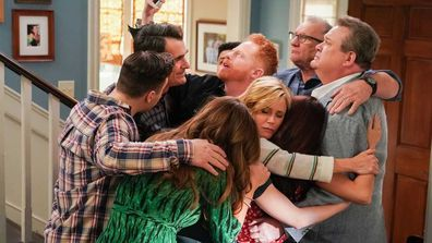 Final hug on the set of Modern Family.