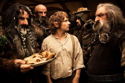 "Graham Mctavish, who plays dwarf Dwalin in the films, said that he gets up at 4am to get to hair and makeup on time, while Aidan Turner, who plays Kili, strolls in later to stick on just the one prosthetic.<br/><br/>""Yeah,"" Aidan Turner said. ""About ten to nine, make it in for nine o'clock, stick the nose on, and I'm done by about nine thirty. It's great."""
