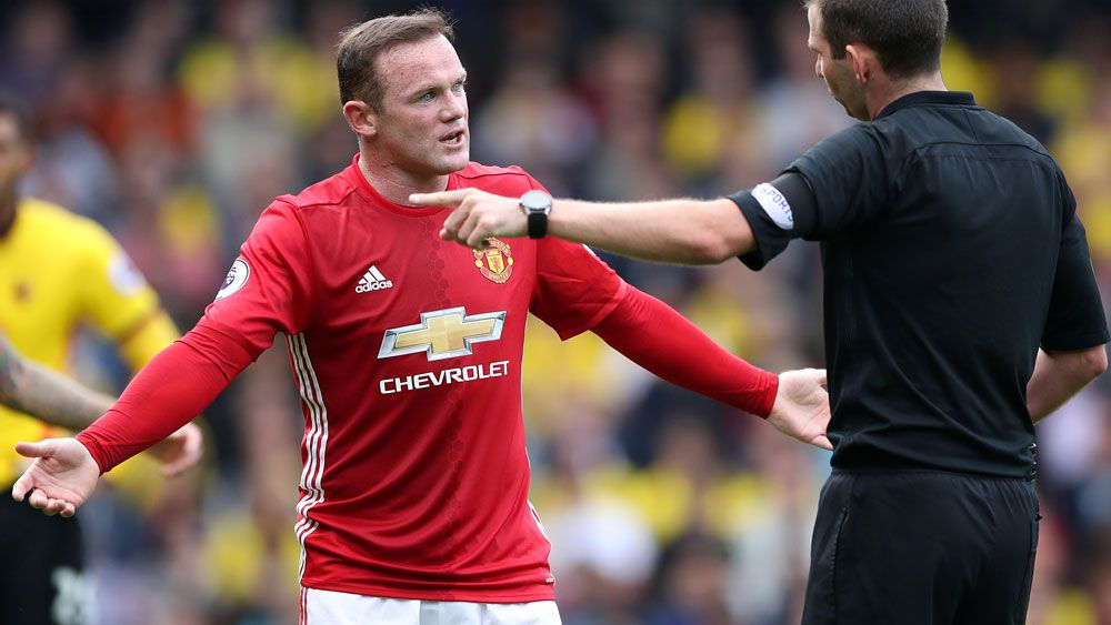 Wayne Rooney has endured a poor start to the season. (AAP)