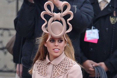 """Who could forget Princess Beatrice's amazing hat at her cousin William's wedding? We could barely take our eyes off her to look at the bride and groom!<br/><br/>RELATED: <a href=""""http://celebrities.ninemsn.com.au/slideshow_ajax.aspx?sectionid=8847&sectionname=slideshowajax&subsectionid=7776183&subsectionname=horsefacedcelebs"""">Celebrities who look like horses</a>"""
