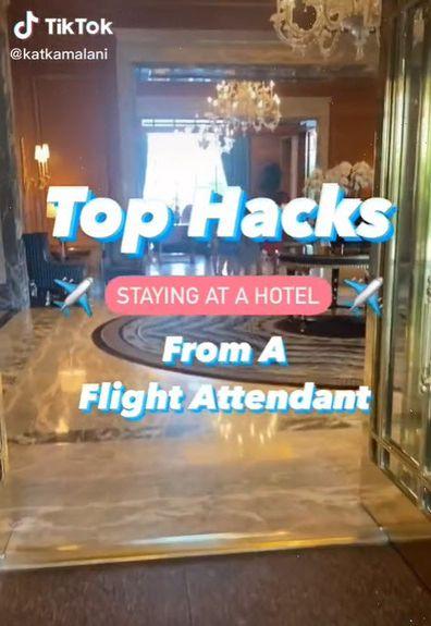 Flight attendant hotel hacks TikTok