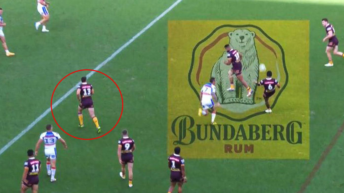 Officials missed a downtown call in the Broncos' clash against the Knights.