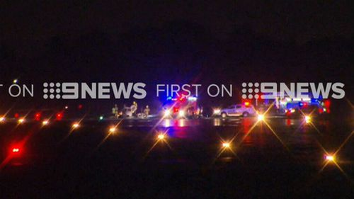 The pilot was not injured. (9NEWS)