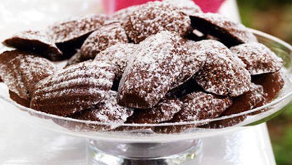 Chocolate honey madeleines